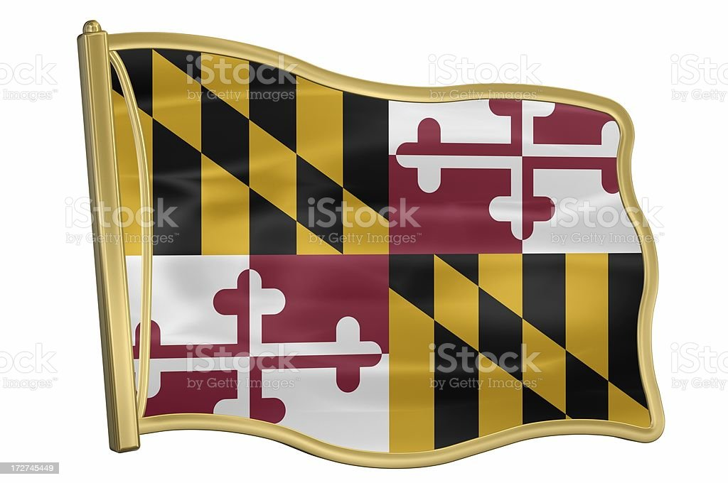 US State Flag Pin - Maryland royalty-free stock photo