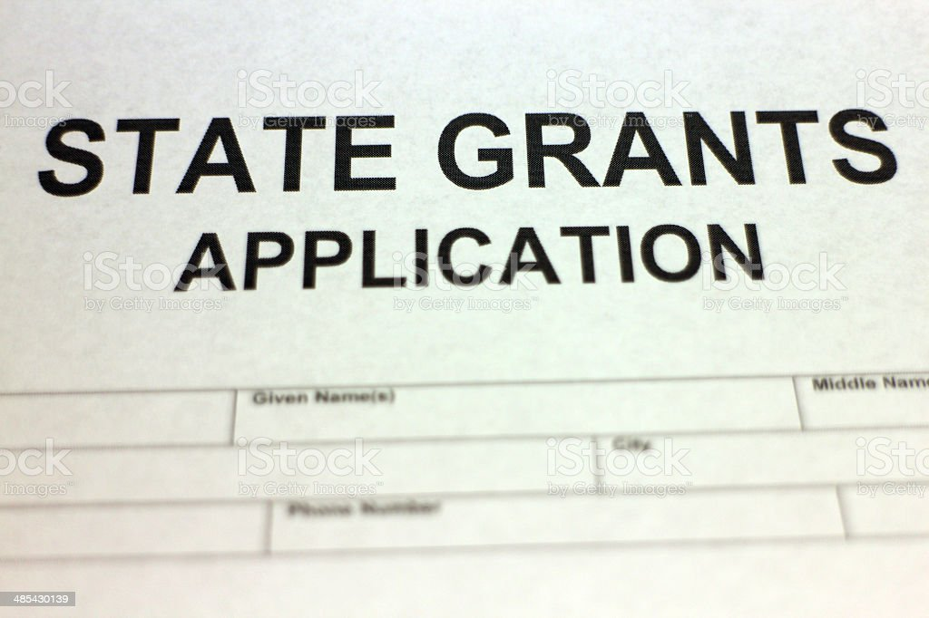 State Grants Application stock photo