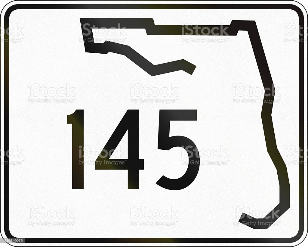 State Highway Shield Florida stock photo