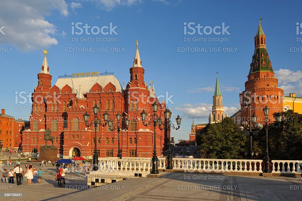 State Historical Museum on Red Square stock photo