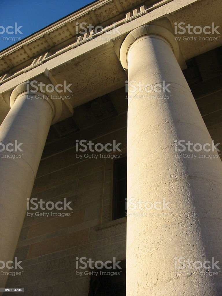 State House Columns stock photo