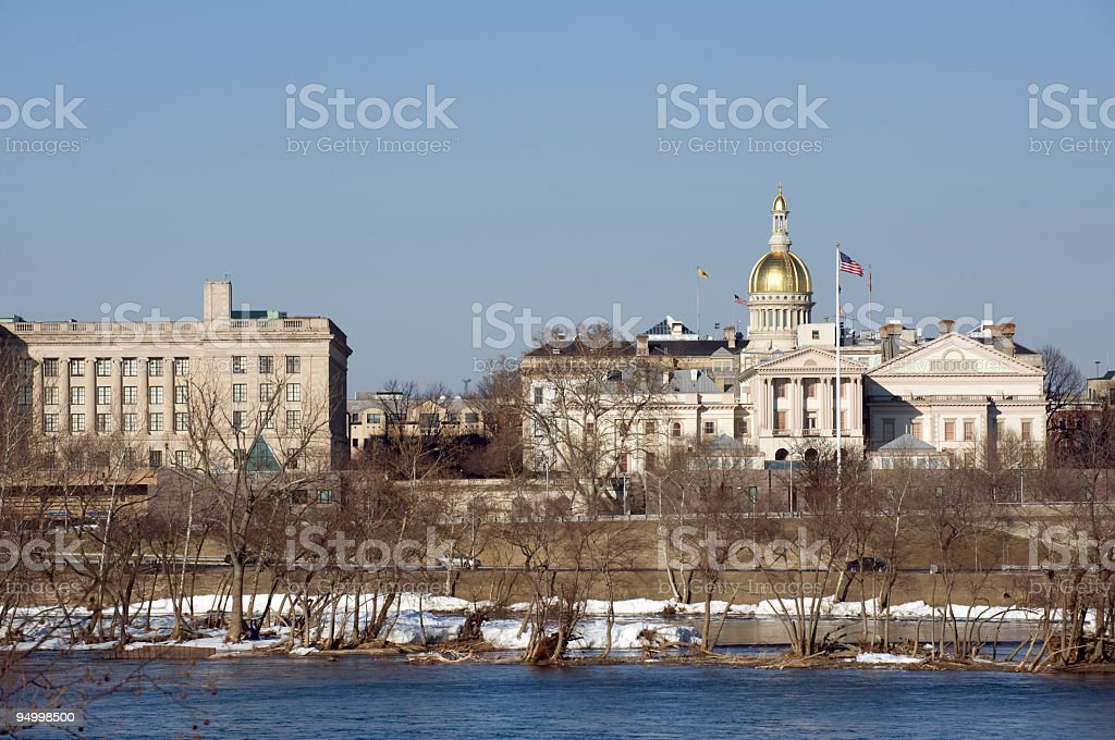 NJ State House royalty-free stock photo