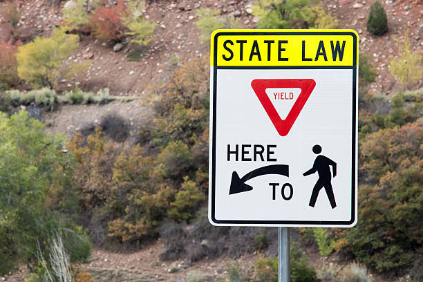 State Law - Yield Here to Pedestrians