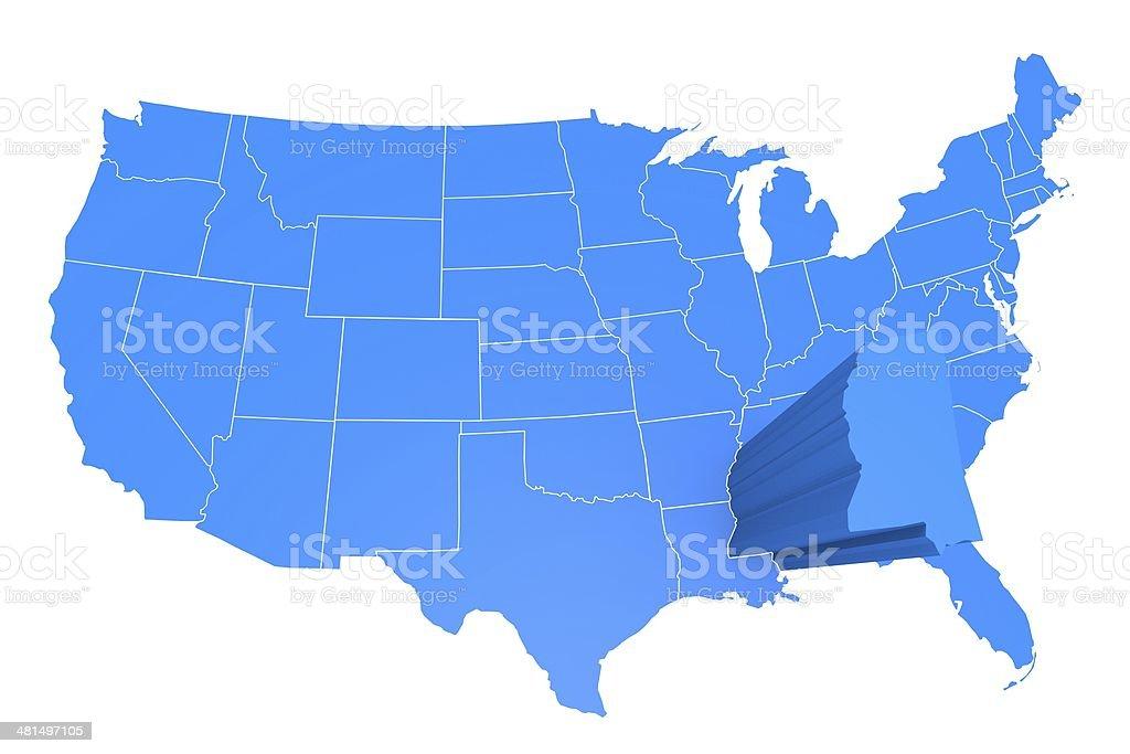 USA state Mississippi stock photo
