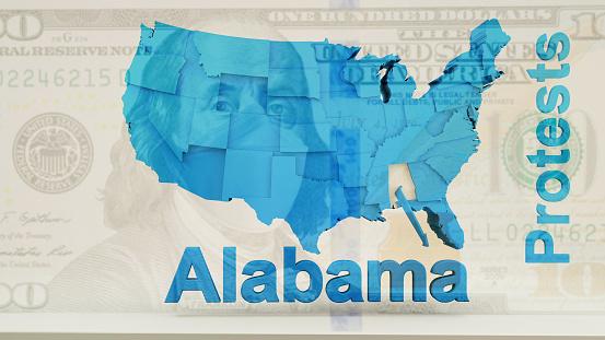 istock USA State of Alabama Protests News 1253670512
