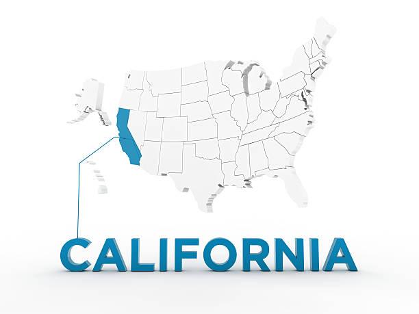usa, state of california - karten de stock-fotos und bilder