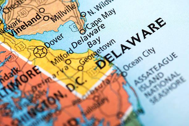 state of delaware state - karten de stock-fotos und bilder