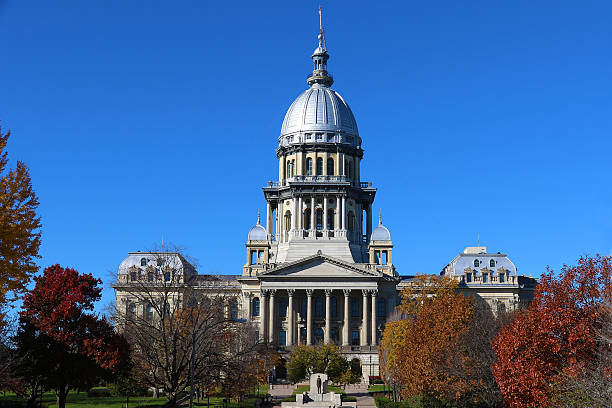 State of Illinois Capital Building State of Illinois Capital Building capital cities stock pictures, royalty-free photos & images