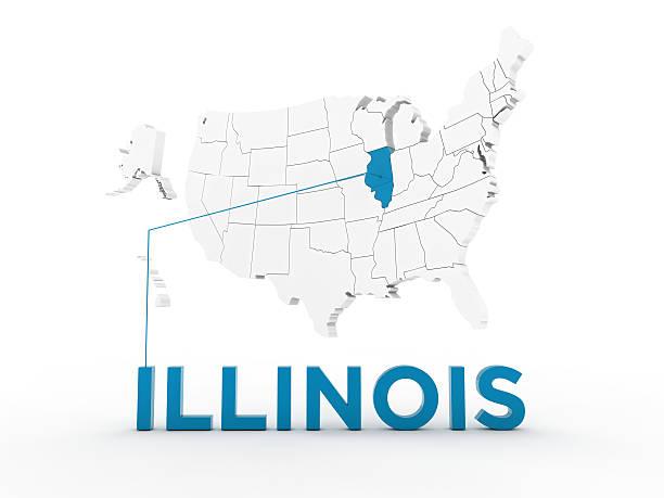 usa, state of illinois - karten de stock-fotos und bilder