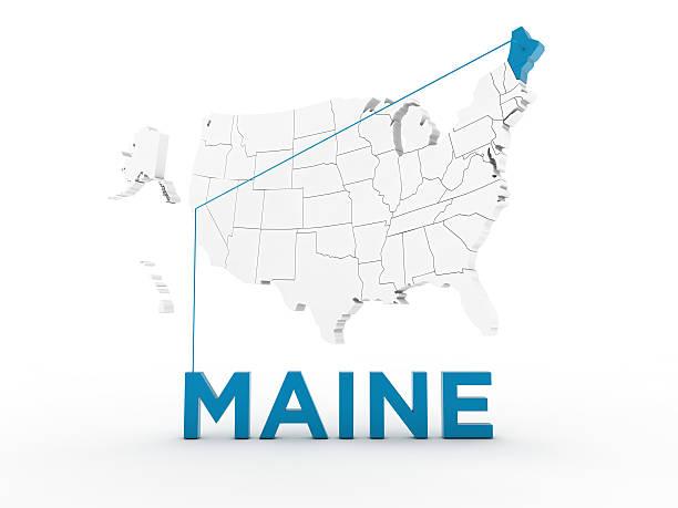 usa, state of maine - karten de stock-fotos und bilder