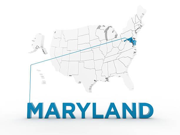 usa, state of maryland - karten de stock-fotos und bilder