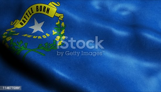 450754061 istock photo State of Nevada Waving Flag in 3D 1146770391