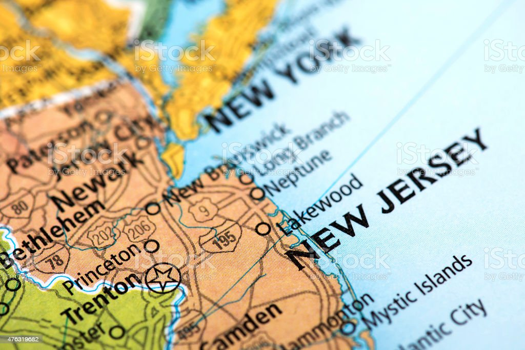State of New Jersey State stock photo
