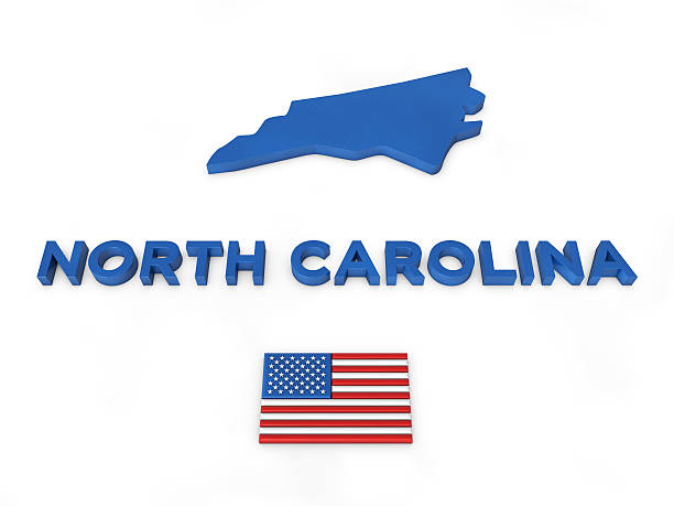 USA, State of North Carolina USA 3d render, State of North Carolina north carolina us state stock pictures, royalty-free photos & images