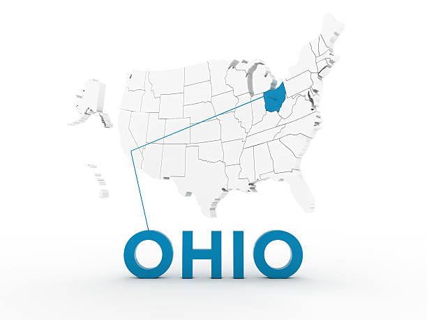 usa, state of ohio - karten de stock-fotos und bilder