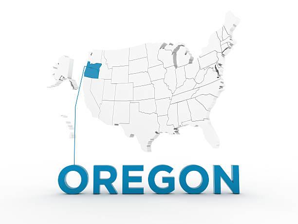 usa, state of oregon - karten de stock-fotos und bilder