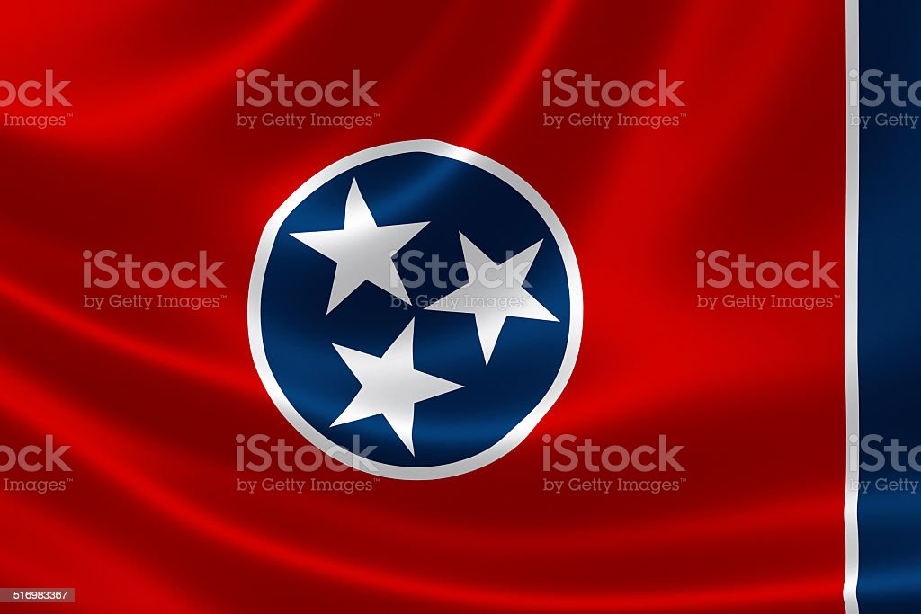 State of Tennessee Flag stock photo