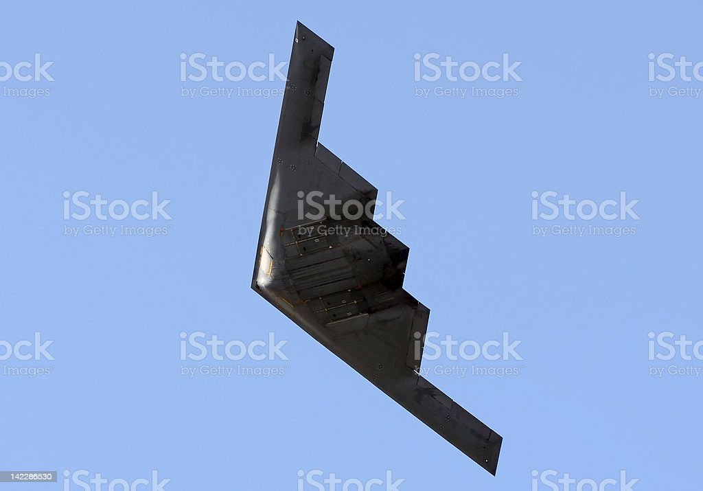 State of the art stealth bomber stock photo
