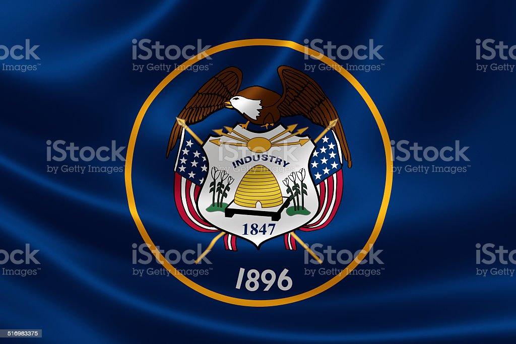 State of Utah Flag stock photo