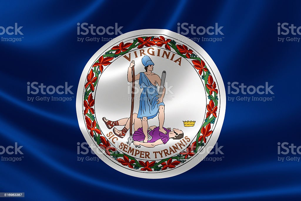 State of Virginia Flag stock photo