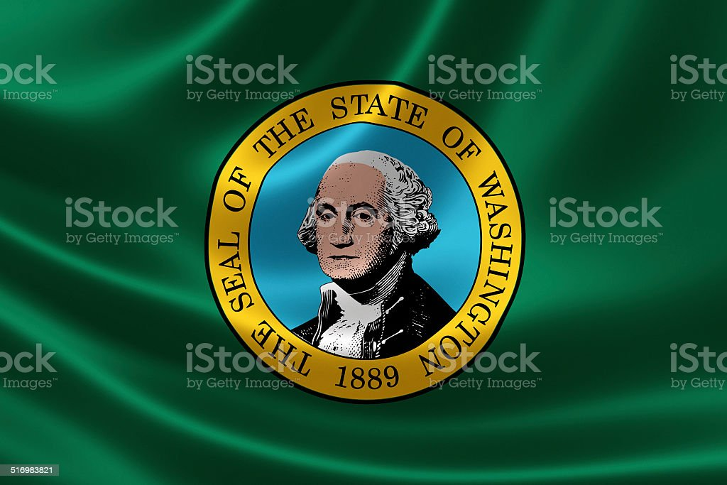 State of Washington Flag stock photo