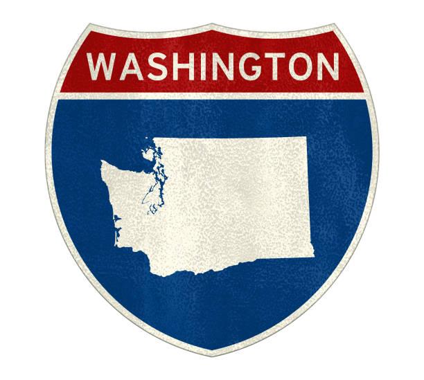Verkehrszeichen des Staates Washington – Foto