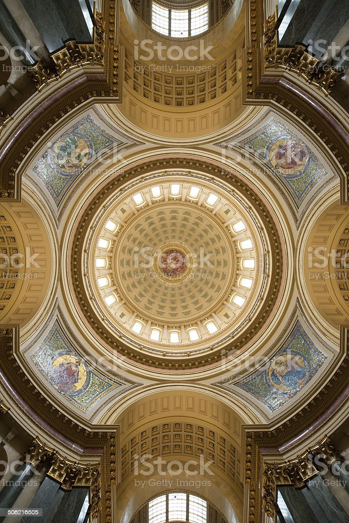 State of Wisconsin Capital Dome stock photo