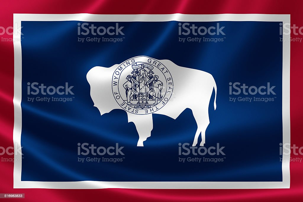 State of Wyoming Flag stock photo