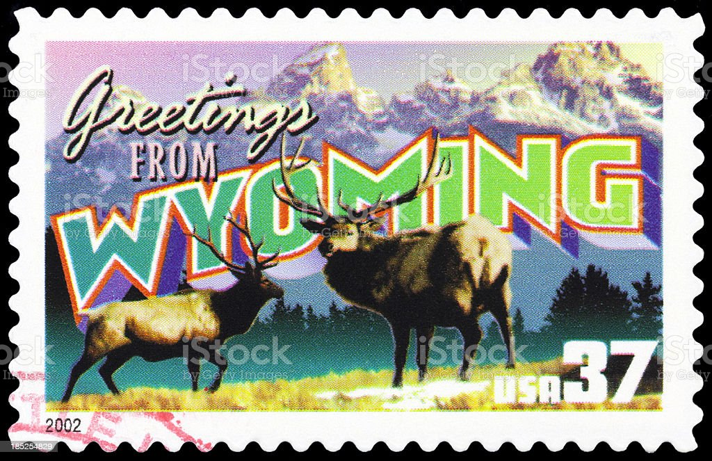 State of Wyoming royalty-free stock photo