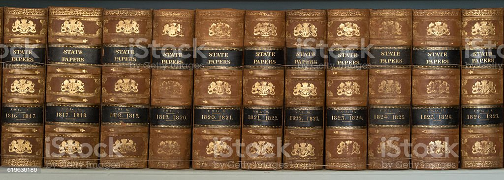 State Papers Books stock photo