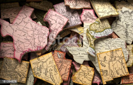 United States Jigsaw Puzzle Pieces