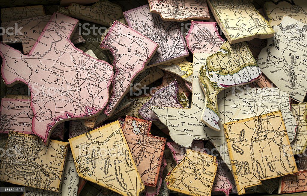 State Puzzle stock photo