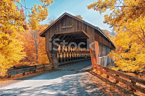 State Road Covered Bridge in Ashtabula, Ohio