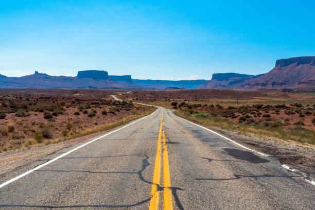 State Route 128, Moab, Utah / USA stock photo