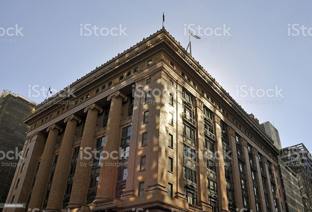 State Savings Bank building Sydney stock photo