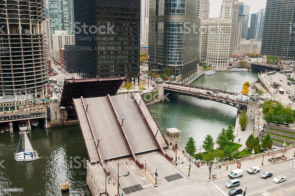 State Street Bridge Lift stock photo