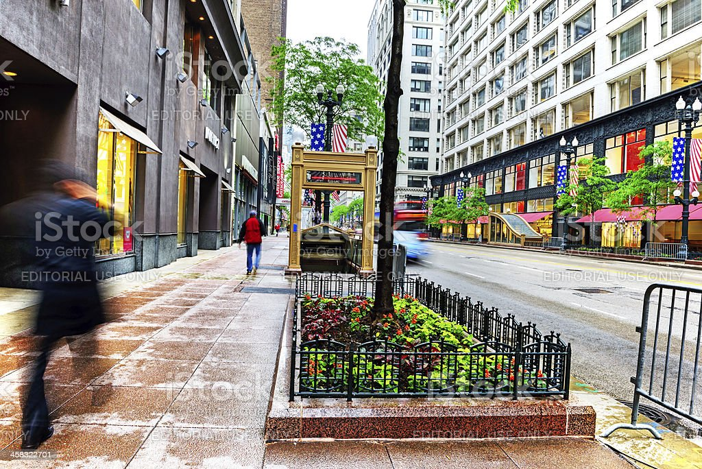 State Street in Chicago royalty-free stock photo