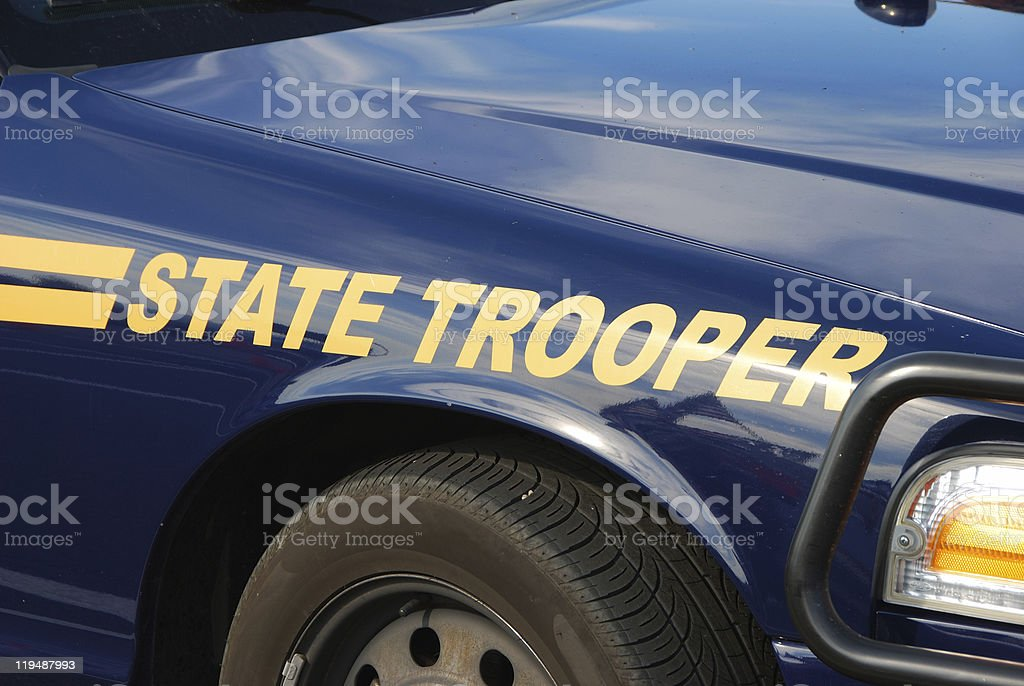State Trooper stock photo