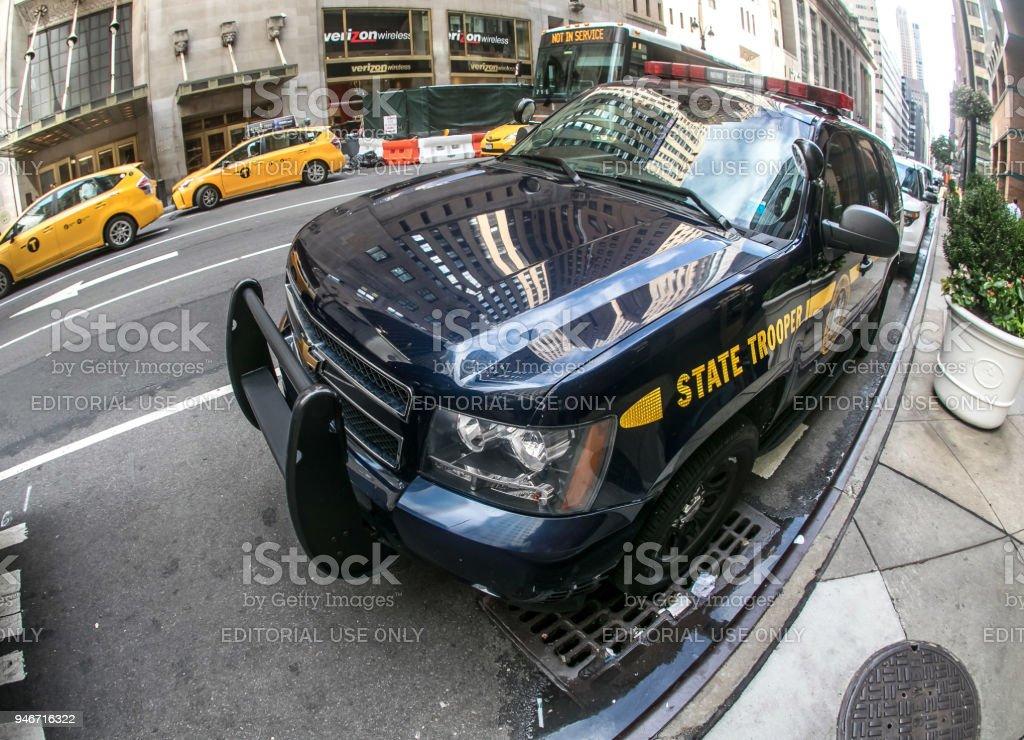 NY State Trooper vehicle. stock photo