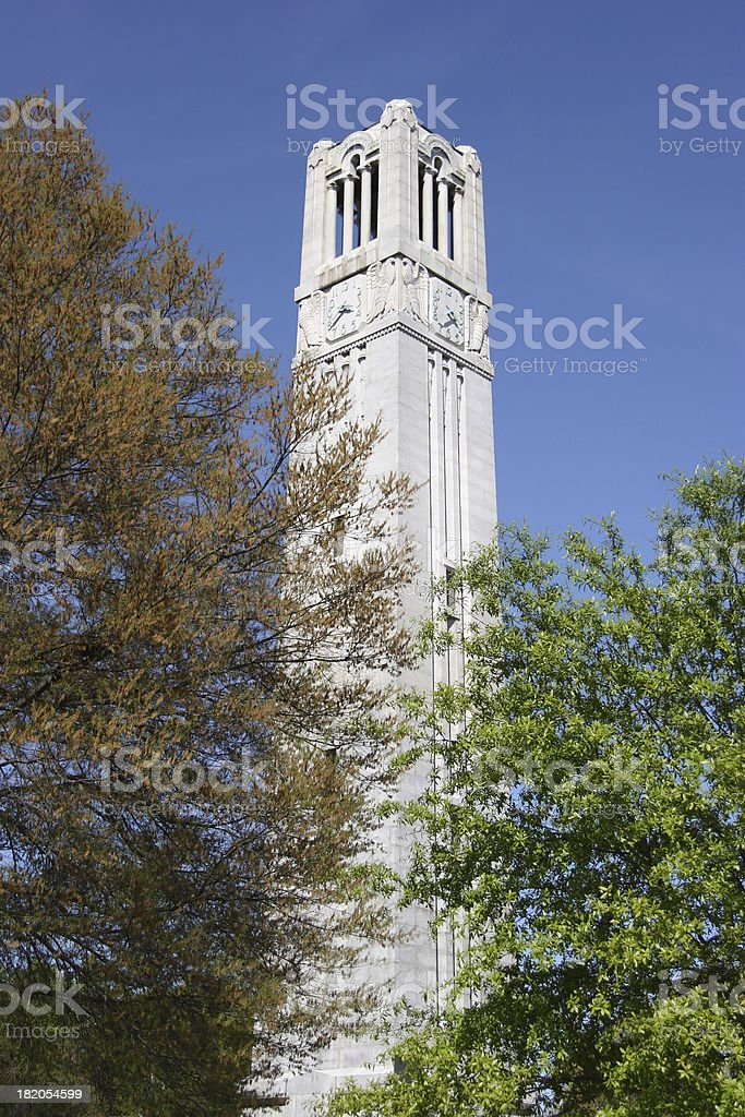 NC State University bell tower 04 stock photo