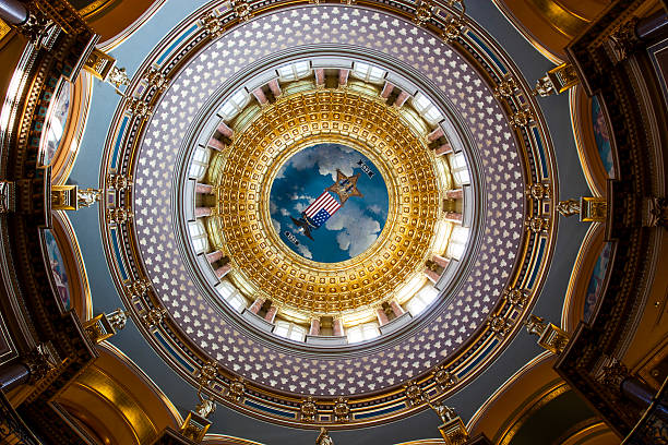 State_Capitol_Building_Des_Moines_Iowa_USA stock photo