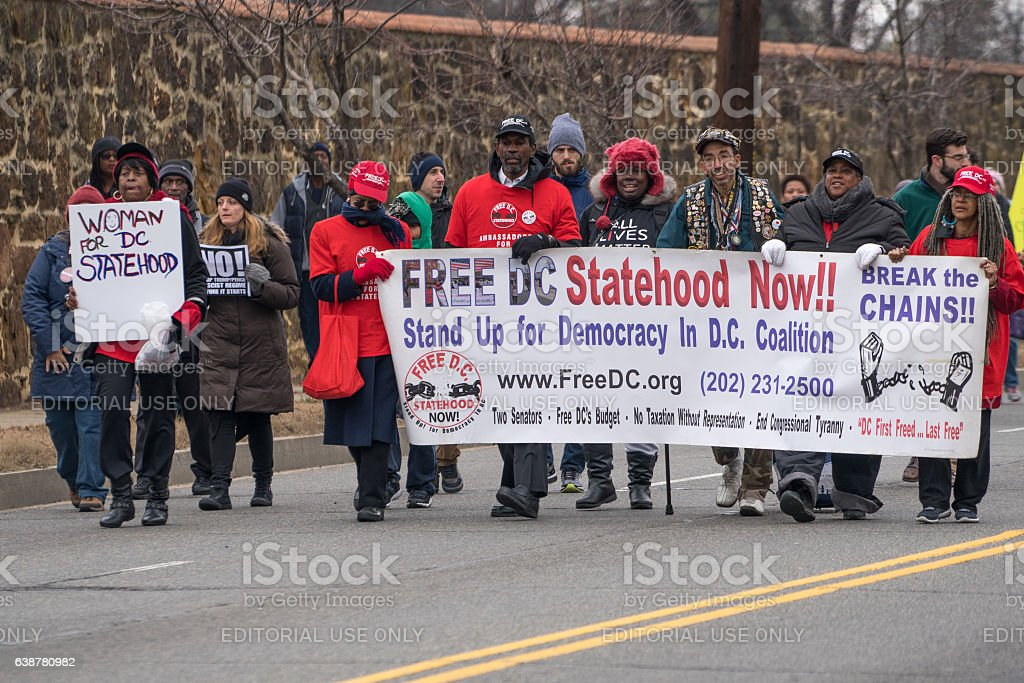 DC Statehood Now - Royalty-free Black Civil Rights Stock Photo
