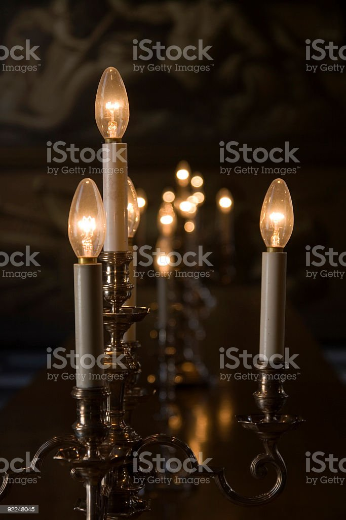 Stately candlesticks royalty-free stock photo