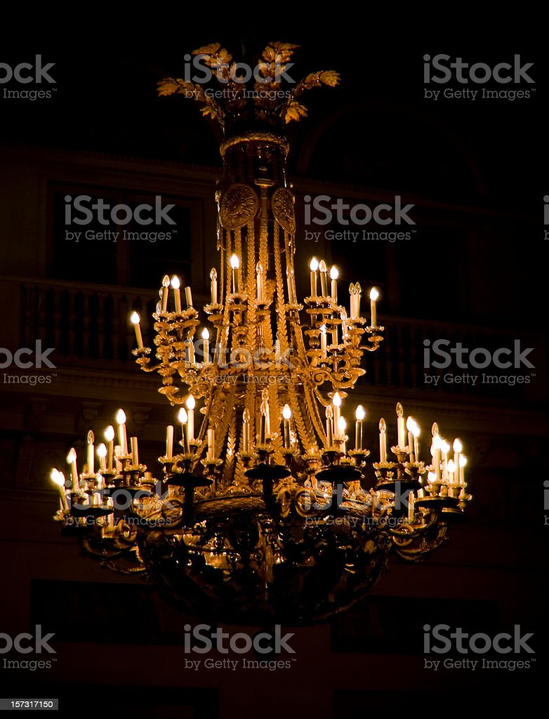 Stately Chandelier stock photo