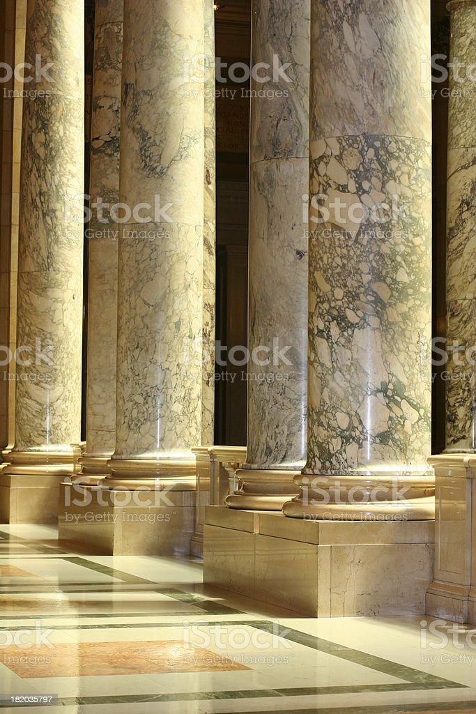 Stately Columns royalty-free stock photo