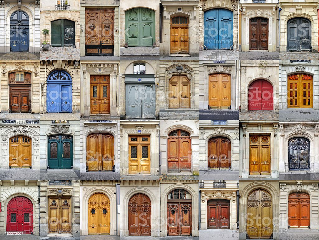 Stately Doors of Paris royalty-free stock photo