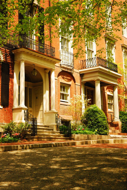 Stately Homes in Beacon Hill stock photo