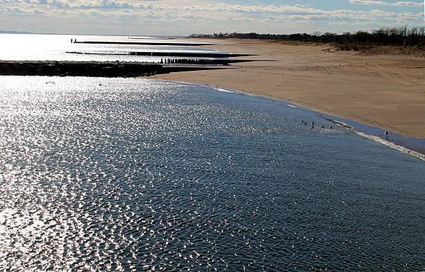 Staten Island beach, New York stock photo