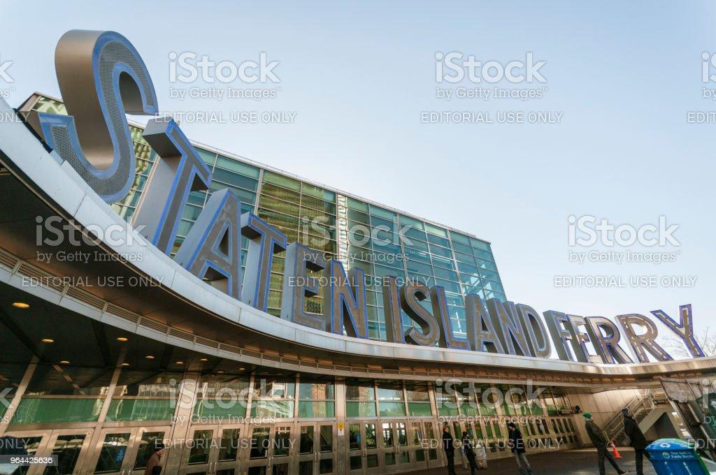 Edifício de Staten Island Ferry - Foto de stock de Barco de passageiros royalty-free