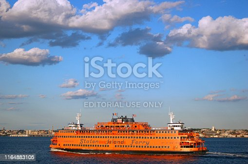 Staten Island, NY, USA July 1, 2007 The Staten Island Ferry shuttles commuters and tourists between Staten Island and Lower Manhattan in New York City